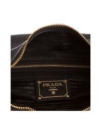 Prada - Black Buckle Strap Shoulder Bag - Lyst