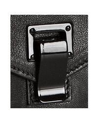 Proenza Schouler - Black Pebbled Leather Ps1 Small Top Handle Bag - Lyst