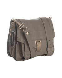 Proenza Schouler | Gray Smoke Leather Ps1 Mini Pouch Crossbody Bag | Lyst