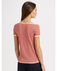 Sonia by Sonia Rykiel | Red Cherry Bomb Striped T-shirt | Lyst