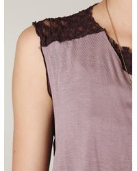 Free People - Black Harlow Lace Back Top - Lyst