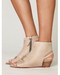 Free People | Natural Catalina Wedge Sandal | Lyst