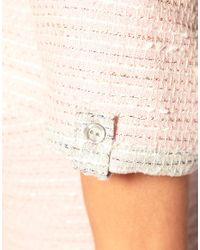 ASOS Collection | Pink Asos Petite Tweed Dress in Pastel | Lyst