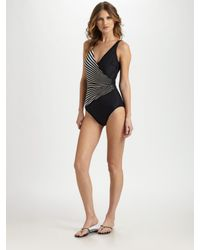 Gottex | Black Vasarelli One-piece Shaping Swimsuit | Lyst