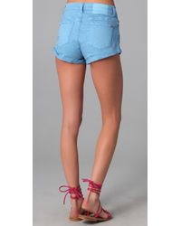 Ksubi | Blue Cee Cee Roll Shorty Shorts | Lyst
