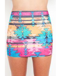 Nasty Gal - Orange Phoenix Bandage Skirt - Lyst