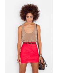 Nasty Gal | Ruched Knot Skirt - Red | Lyst