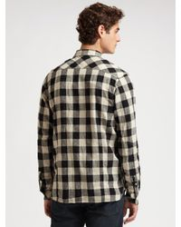 Scotch & Soda | Black Plaid Linen Shirt for Men | Lyst