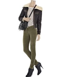 Vince - Green Mid-rise Corduroy Skinny Jeans - Lyst