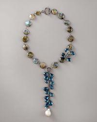 Wendy Brigode   Blue Labradorite & Topaz Necklace   Lyst