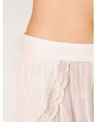 Free People | Pink Chiffon Tulip Shorts | Lyst