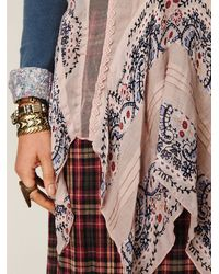 Free People - Gray Fp One Border Print Tunic - Lyst