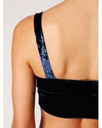 Free People - Blue Velvet High Waisted Brief - Lyst
