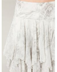 Free People - Gray Summer Layers Skirt - Lyst