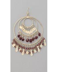 Kenneth Jay Lane | Metallic Gold 3 Ring Gypsy Hoop Earrings | Lyst