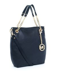 Michael Kors | Black Jet Set Medium Chain Shoulder Tote | Lyst