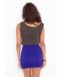 Nasty Gal - Blue Scuba Skirt - Indigo - Lyst