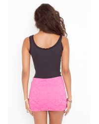 Nasty Gal - Lola Crochet Skirt - Pink - Lyst