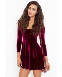 Nasty Gal | Purple Kerrigan Velvet Dress | Lyst