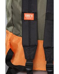 Obey - Green Commuter Pack for Men - Lyst