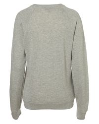 TOPSHOP - Gray Dinosaur Sweat - Lyst