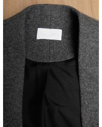 Tze Goh | Gray Cashmere and Virgin Wool Short Sleeved Jacket | Lyst