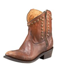 A.L.C. | Brown Studded Distressed Boot | Lyst