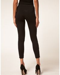 ASOS Collection | Black Leggings with Embellished Panels | Lyst