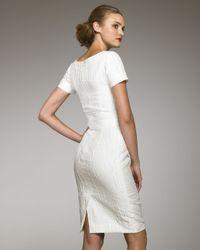 Carolina Herrera | White Textured Linen Dress | Lyst