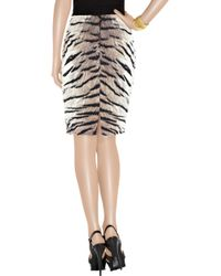 Giambattista Valli | Multicolor Cotton and Silk-blend Tiger-print Pencil Skirt | Lyst