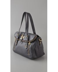 Marc By Marc Jacobs | Gray Petal To The Metal Voyage Satchel | Lyst