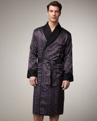 Stefano Ricci | Purple Silk Paisley Robe for Men | Lyst