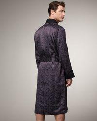 Stefano Ricci   Black Silk Paisley Robe for Men   Lyst