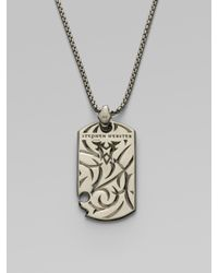 Stephen Webster - Metallic Fighter Silver Dogtag Necklace for Men - Lyst