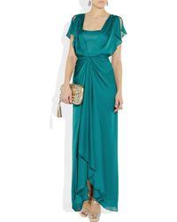 Temperley London | Blue Venus Waterfall Silk Gown | Lyst