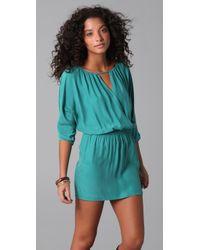 Twelfth Street Cynthia Vincent - Blue Cross Front Mini Dress - Lyst