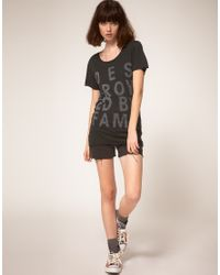 Zoe Karssen | Black Destroyed By Fame Cotton and Modal-blend T-shirt | Lyst