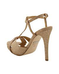 Badgley Mischka - Pink Rose Gold Glitter Indigo Iii Platform Sandals - Lyst