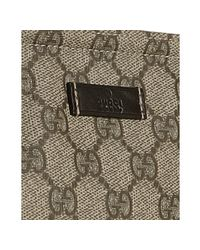 Gucci - Black Beige Gg Plus Medium Flat Messenger for Men - Lyst