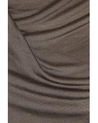 Helmut Lang - Brown Draped Jersey Dress - Lyst