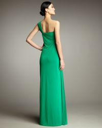 Hoaglund New York | Green Beaded Drape Gown | Lyst