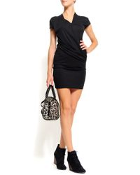 Mango - Black Slim-Fit Short Dress - Lyst