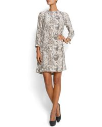 Mango - Multicolor Snake Print Dress - Lyst
