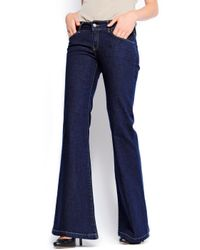 Mango - Blue Bell Bottom Jeans - Lyst