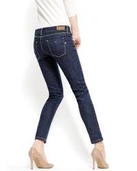 Mango - Blue Skinny Push-up Uptown Jeans - Lyst