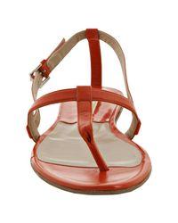 Michael Kors - Orange Coral Leather Flat Thong Sandals - Lyst