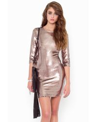 Nasty Gal - Pink Derora Sequin Dress - Lyst