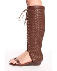 Nasty Gal | Brown Kasa Woven Sandal | Lyst