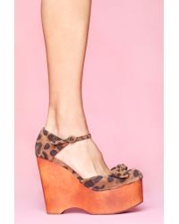 Nasty Gal | Multicolor Daisy D Platform Wedge - Leopard | Lyst