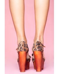 Nasty Gal - Multicolor Daisy D Platform Wedge - Leopard - Lyst